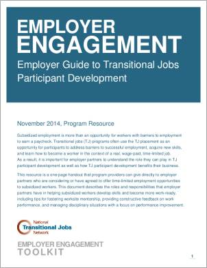 Employer Guide to Transitional Job Participant Engagement