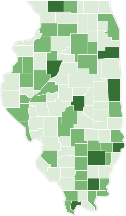 CountyMap: Report on Illinois Poverty